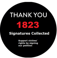 Support victims' rights – Sign our petition!